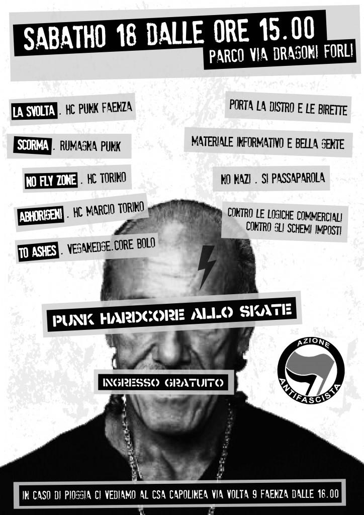 SABATO 18/10 A FORLI', IN CASO DI PIOGGIA AL CAPOLINEA!!!